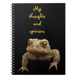 American Toad Spiral Note Book