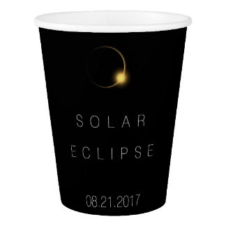 American Total Solar Eclipse 2017 Paper Cup