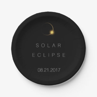 American Total Solar Eclipse 2017 Paper Plate