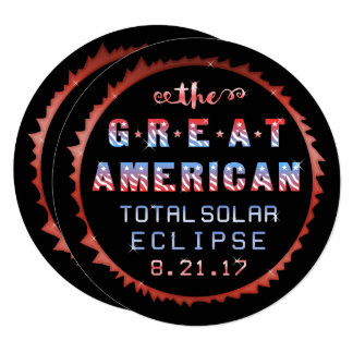 American Total Solar Eclipse 2017 Viewing Party Card