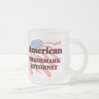 American Trademark Attorney Frosted Glass Mug