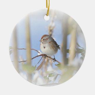 American Tree Sparrow Ceramic Ornament