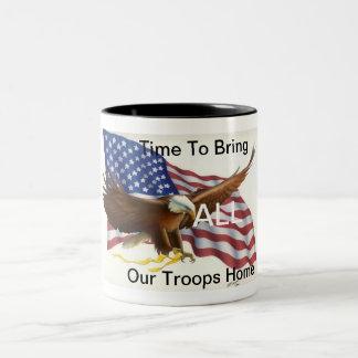 American Troops Two-Tone Mug