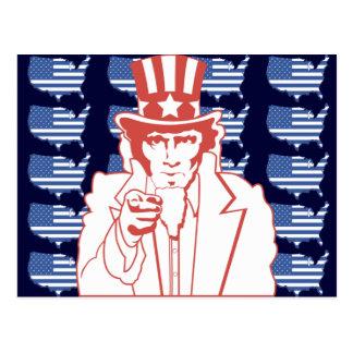 American Uncle Sam Postcard