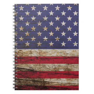 American United States Rustic Flag Notebooks