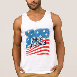 American United We Stand Flag Singlet