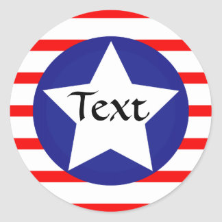 American / US Flag Sticker with Red, White & Blue.