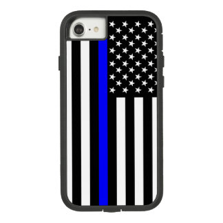 American US Flag Thin Blue Line Symbol on Case-Mate Tough Extreme iPhone 8/7 Case