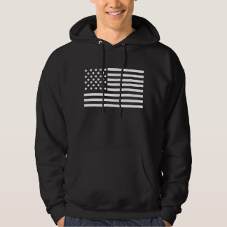 American USA flag basic hooded sweatshirt