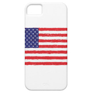 American USA Flag *Hand Sketch* Us Flag Case For The iPhone 5