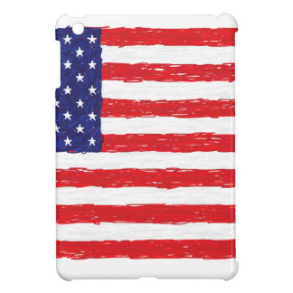 American USA Flag *Hand Sketch* Us Flag Cover For The iPad Mini