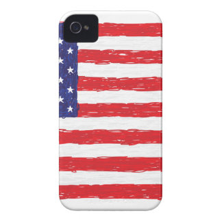 American USA Flag *Hand Sketch* Us Flag iPhone 4 Case-Mate Cases