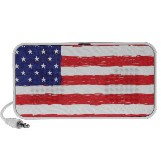 American USA Flag *Hand Sketch* Us Flag iPhone Speakers