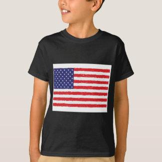 American USA Flag *Hand Sketch* Us Flag T-Shirt