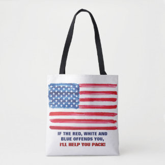 American USA Flag Offends Patriotic Political Tote Bag