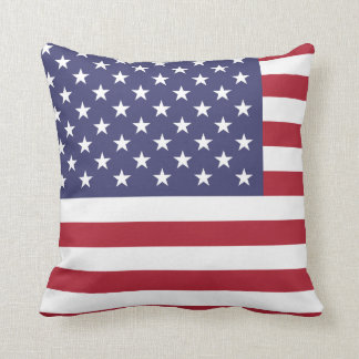 American USA Flag Patriotic July 4th Cushion