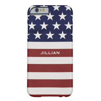 American USA Flag Patriotic July 4th Custom Barely There iPhone 6 Case