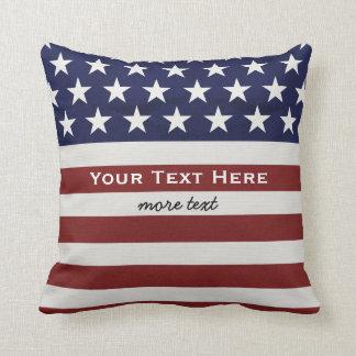 American USA Flag Patriotic July 4th Custom Cushion