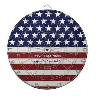 American USA Flag Patriotic July 4th Custom Dartboard