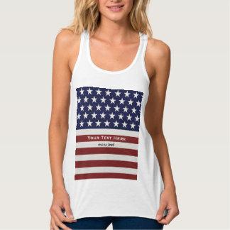 American USA Flag Patriotic July 4th Custom Singlet