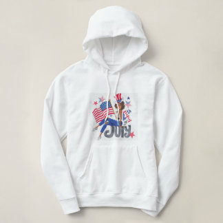American USA Flag Patriotic July 4th Hoodie