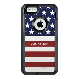American USA Flag Patriotic July 4th Premium OtterBox Defender iPhone Case