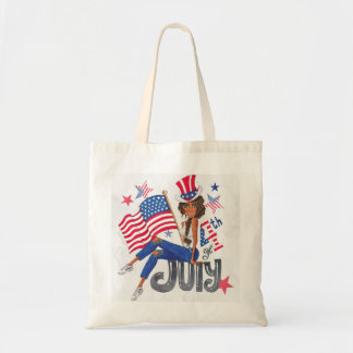 American USA Flag Patriotic July 4th Tote Bag