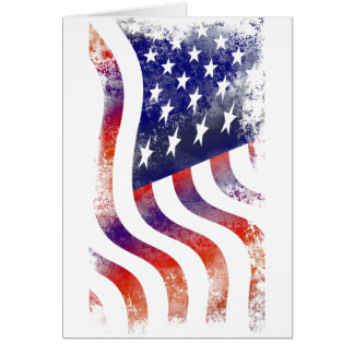 American USA National Flag Independence Day 4 th J Greeting Card