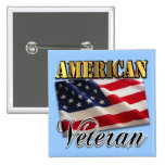 American Veteran Apparel and Gifts Pinback Button