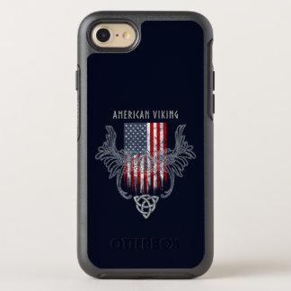 American Viking. Flag, Distressed, Celtic Helmet OtterBox Symmetry iPhone 8/7 Case