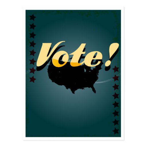 American vintage style vote poster post card