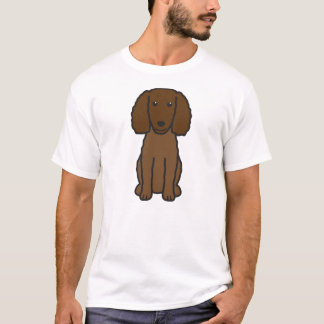 American Water Spaniel Dog Cartoon T-Shirt