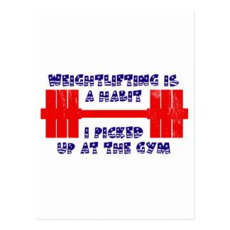 American Weightlifting Habit Postcard