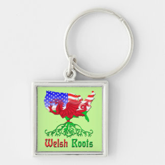 American Welsh Roots Keychain
