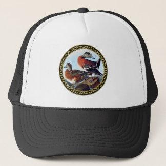 American Widgeon ducks on a rock Trucker Hat