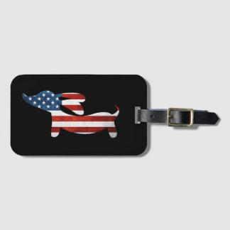American Wiener Dachshund Luggage Bag Tag