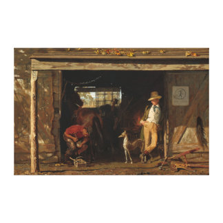 American WildWest Blacksmith and Cowboy Canvas Print