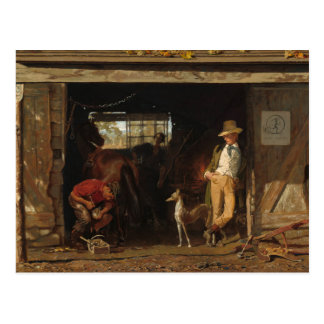 American WildWest Blacksmith and Cowboy Postcard