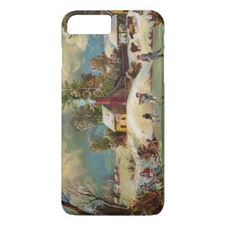 American Winter Life Christmas Scene iPhone 8 Plus/7 Plus Case