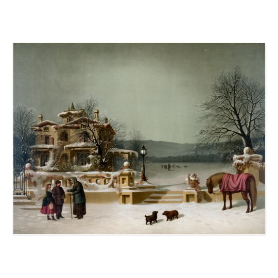 American Winter Scene Postcard
