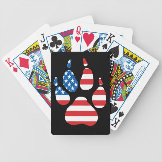 American wolf bicycle playing cards