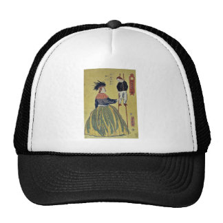 American woman by Utagawa,Yoshitora Mesh Hat