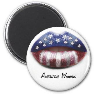 American Woman 6 Cm Round Magnet