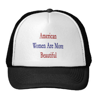 American Women Are More Beautiful Mesh Hats