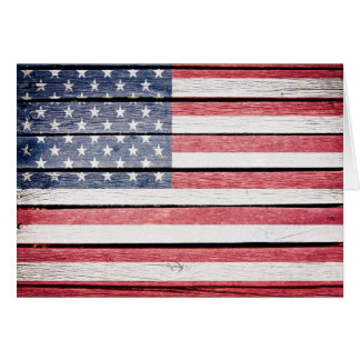 American Wood Image Flag Note Card