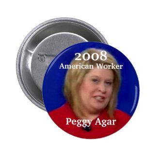American Worker Peggy Agar 6 Cm Round Badge