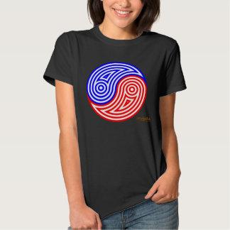 American Yin Yang red, white & blue stripes Shirts