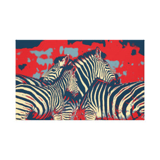 American Zebra Canvas Print