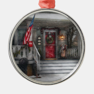 Americana - A Tribute to Rockwell (Westfield, NJ) Silver-Colored Round Decoration