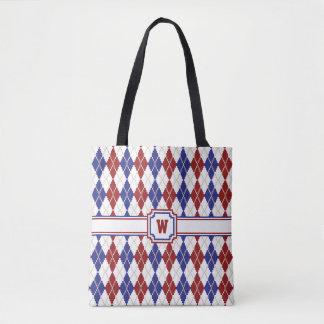 Americana Argyle All-Over-Print Bag
